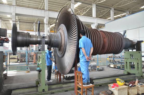 50MW Steam Turbine Rotor Maintenance